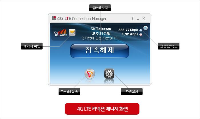 4G LTE 모뎀 SD-711, 커넥션 매니저