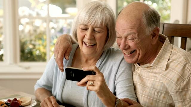 SKT 할머니 아이폰