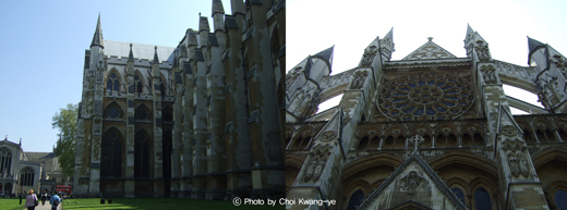 정식 명칭이 웨스터민스터 세인트 피터 성당 참사회(Collegiate Church of St. Peter in Westminster)인 웨스터민스터 사원(Westminster Abbey)은 웨스터민스터에 있는 고딕 양식의 거대한 성공회 성당이다. 서쪽으로는 웨스터민스터 궁과 인접해 있다. 이곳은 영국왕의 대관식 등 왕실 행사를 거행하거나 매장터로 이용하는 곳이다. 부근에 있는 웨스터민스터 대성당(Westminster Cathderal)은 로마 가톨릭교회 소속으로 이곳 사원과는 전혀 별개의 것이다.