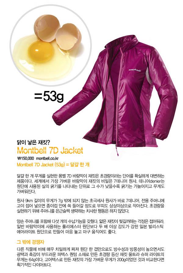 몽벨 7D 재킷