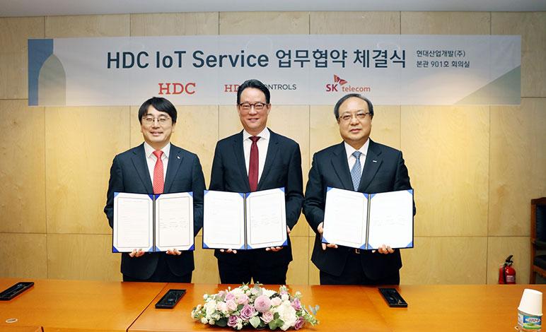 HDC현대산업개발, 아이파크, IPARK, SK텔레콤, 스마트홈,  IoT