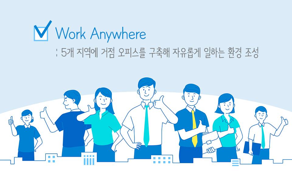 skt, sk텔레콤, 자율출퇴근제, 거점오피스, skt기업문화, 기업문화
