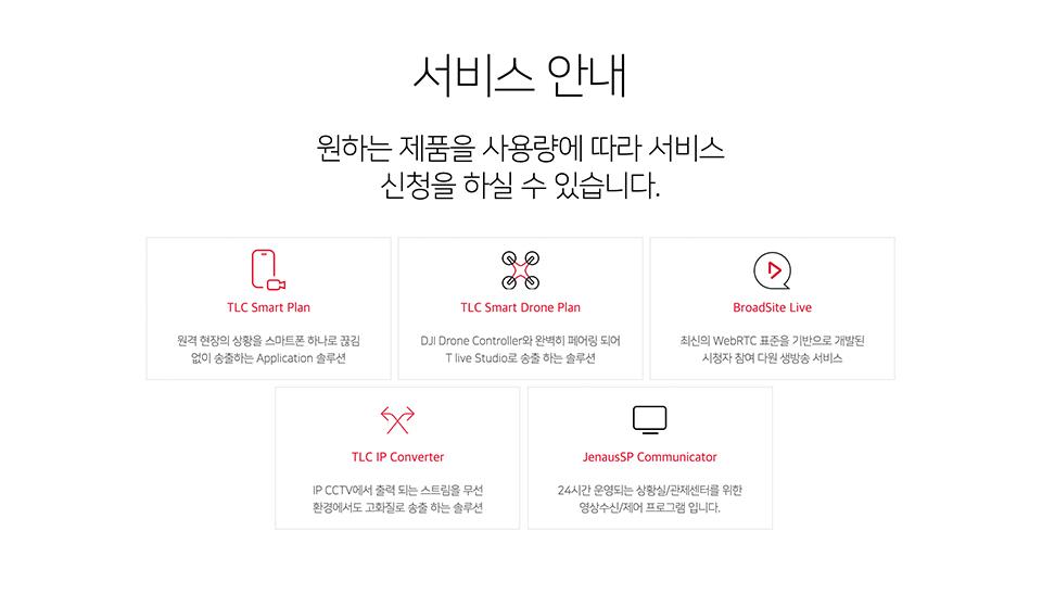 T라이브캐스터, 영상관제, T라이브캐스터플랜, 실시간영상관제