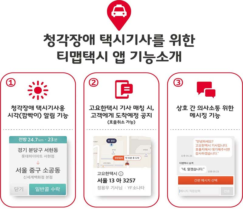 SK텔레콤, 청각장애 택시기사 지원 나섰다