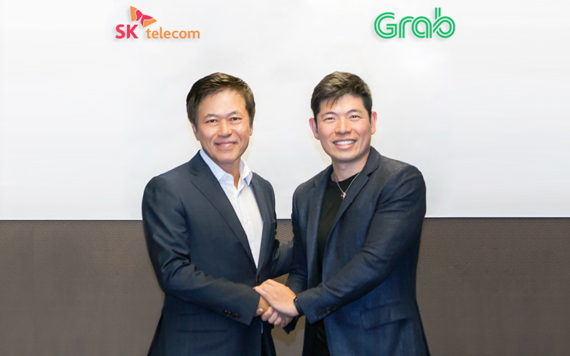 SKT, 동남아 '그랩(Grab)' 공유 차량에 'T맵' 기술 심는다