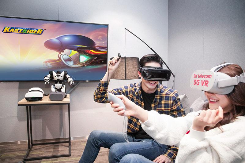 SKT, 5G스마트폰 '킬러콘텐츠' 확보 속도 올린다 - '카트라이더 VR' 등 실감형 게임 개발