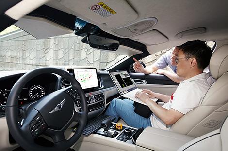 자율주행차, 제네시스 G80, V2X, 엔비디아