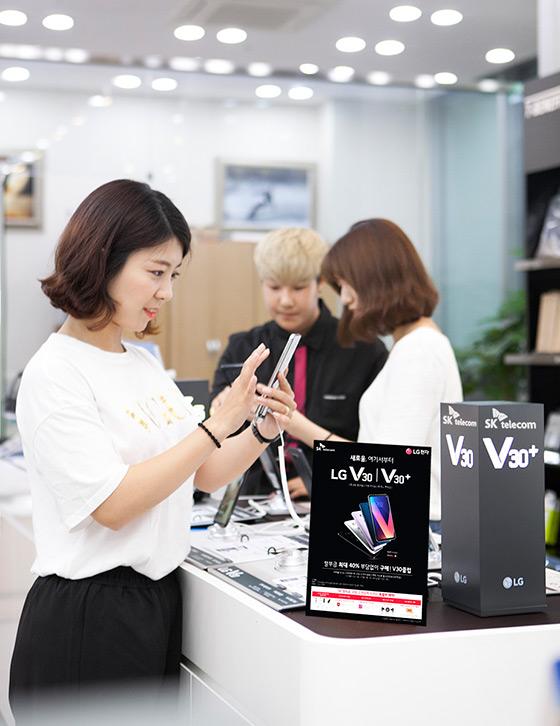 V30, LG전자, 플래그십 스마트폰, T월드다이렉트