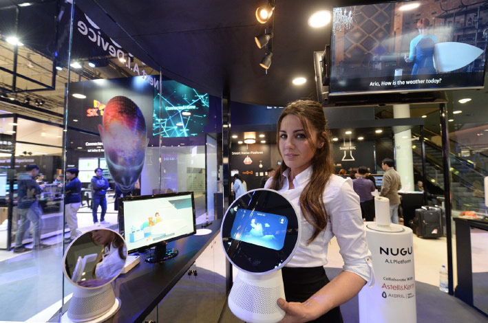 SK텔레콤, AI로봇, 스페인 바르셀로나, 모바일 월드 콩그레스