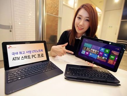 SK텔레콤, 아티브 스마트PC 프로, LTE데이터 함께쓰기, 최신 윈도8 OS탑재, 터치스크린